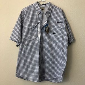 Columbia Plaid Button Up Short Sleeve